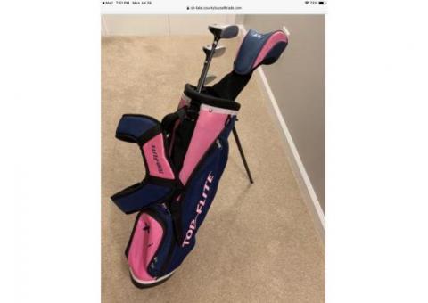 Girls starter set golf clubs
