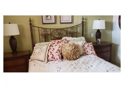 Cast Iron Queen bed